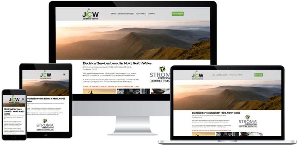 Responsive website for JCW Electrian Mold