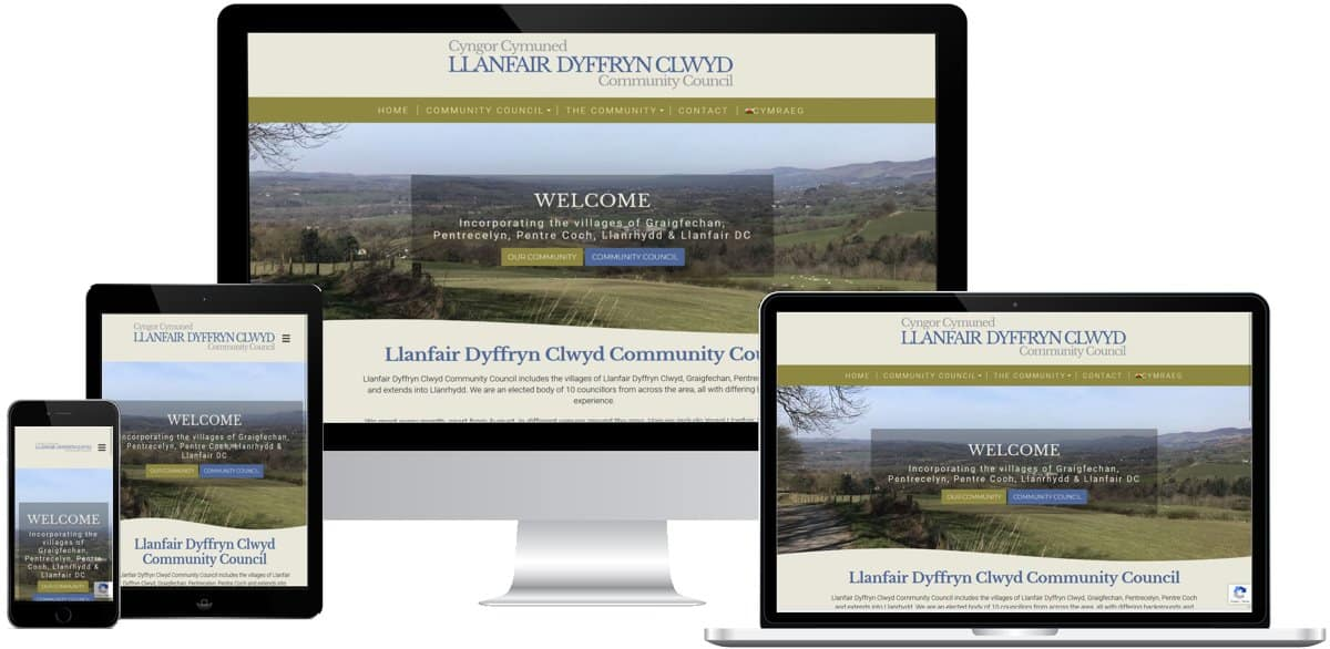 Example Design of a Community Council Website